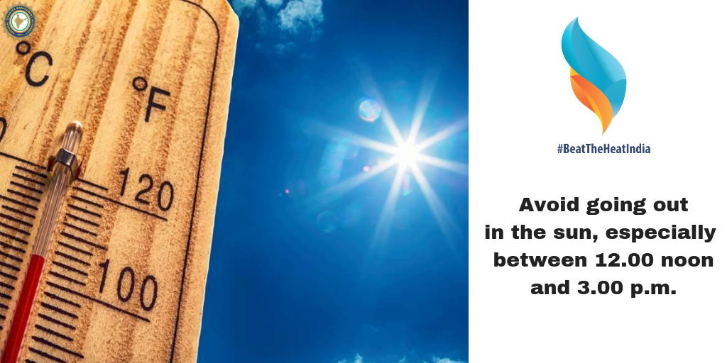 Avoid going out in the sun, especially between 12:00 noon and 3:00 pm