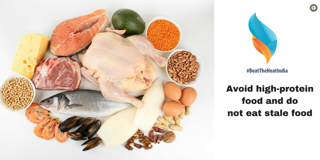 Avoid high-protein food and do not eat stale food