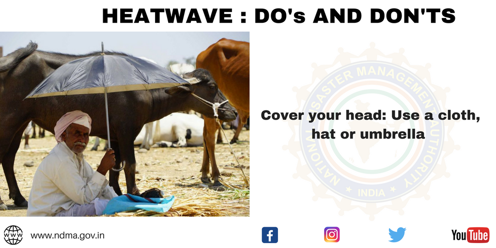 Cover your head – use a cloth, hat or umbrella