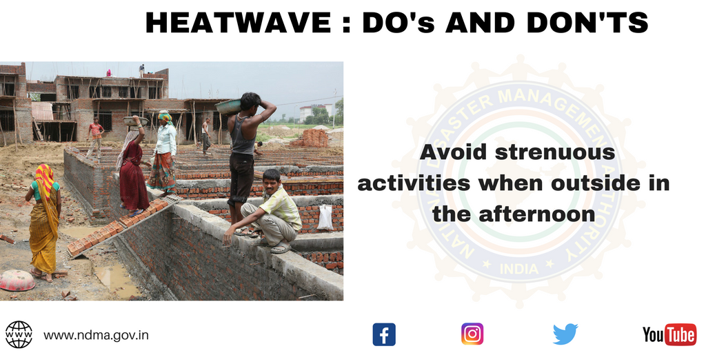Avoid strenuous activities when outside in the afternoon