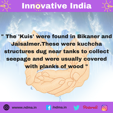 Kuis – kuchcha structures in Bikaner, Rajasthan, dug near tanks to collect seepage covered with planks of wood