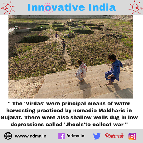 The 'Virdas' were principal means of water-harvesting practised by nomadic Maldharis in Gujarat