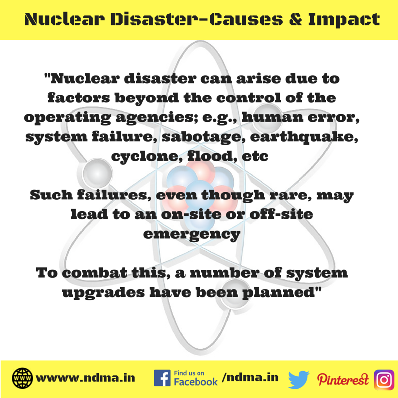 Causes – human error, system failure, sabotage, earthquake, cyclone, flood