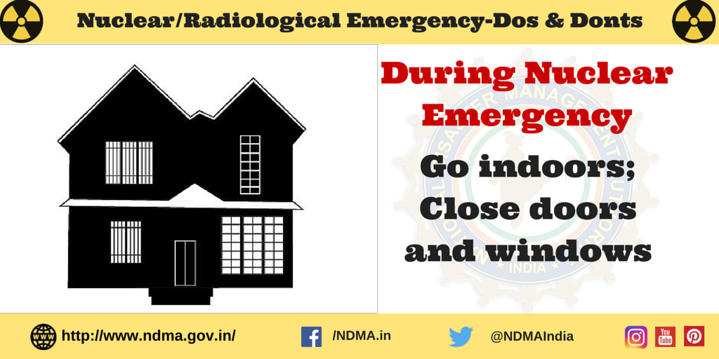 Go indoors, close doors and windows