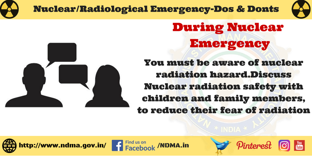 Discuss nuclear radiation safety with children and family members