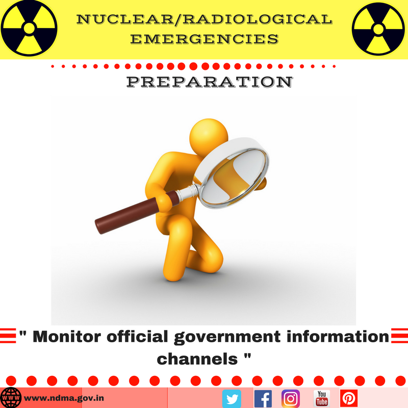 Monitor official government information channels