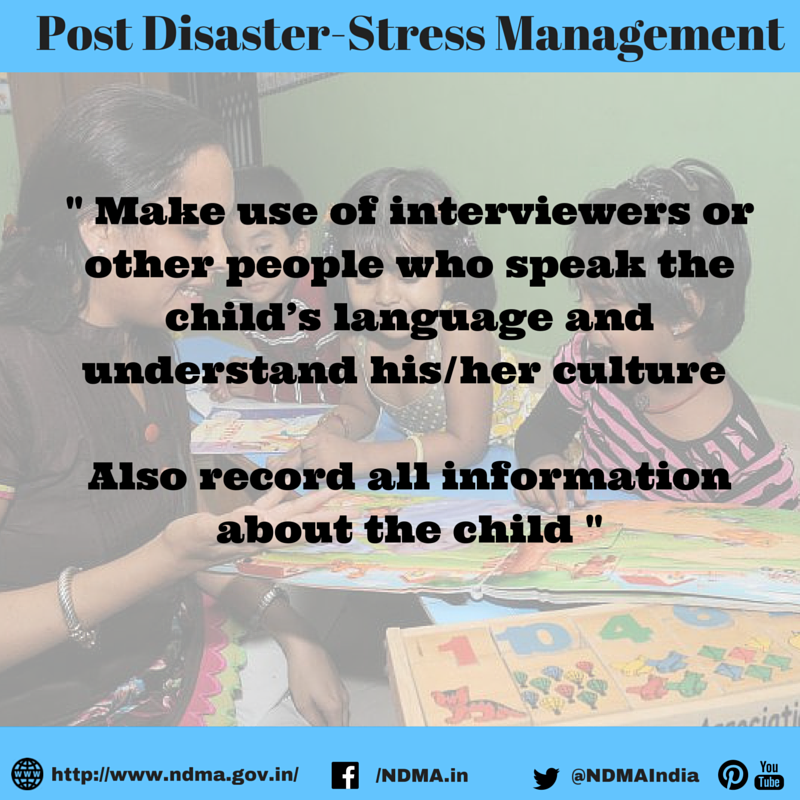 Make use of interviewers for other people who speak the child's language and understand his/her culture