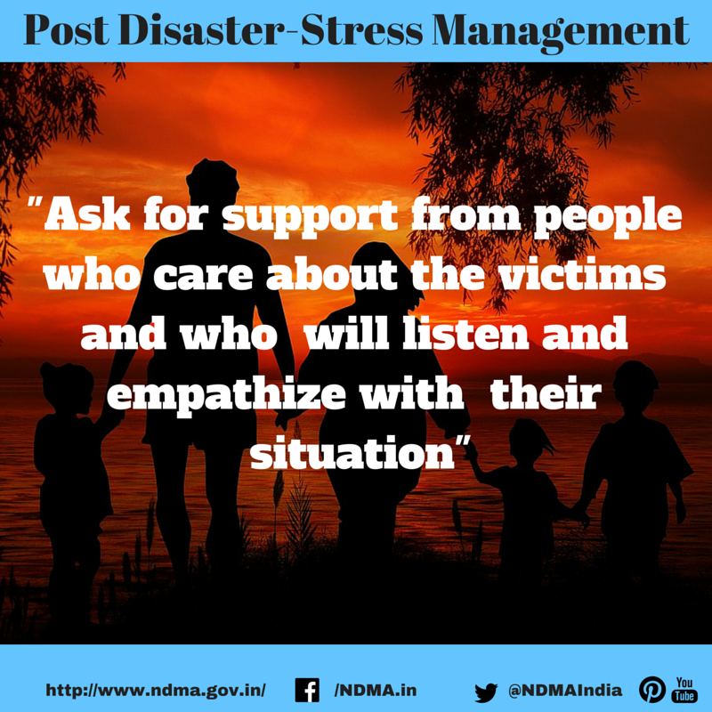 Ask for support from people who care about the victims and who will listen and empathise with their situation