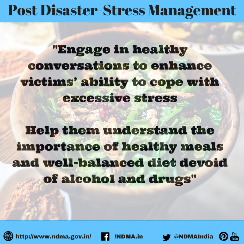 Engage in healthy conversations to enhance victims' ability to cope with excessive stress