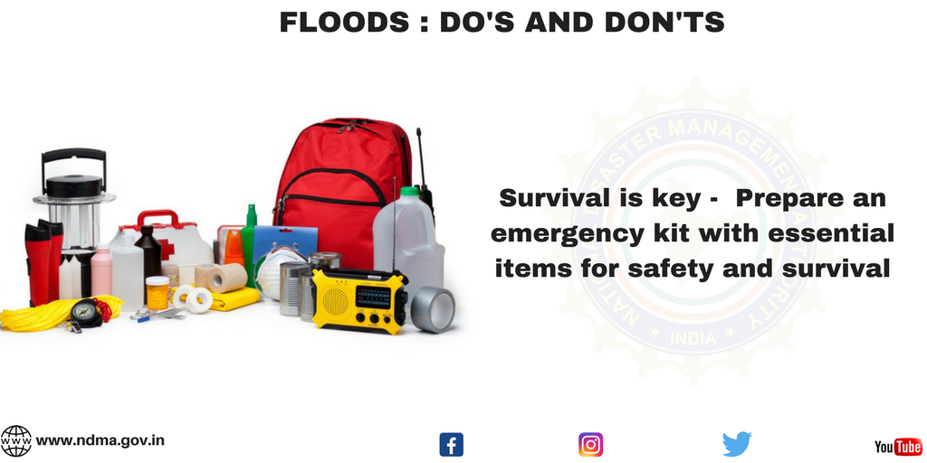 Survival is key - prepare an emergency kit with essential items for safety and survival