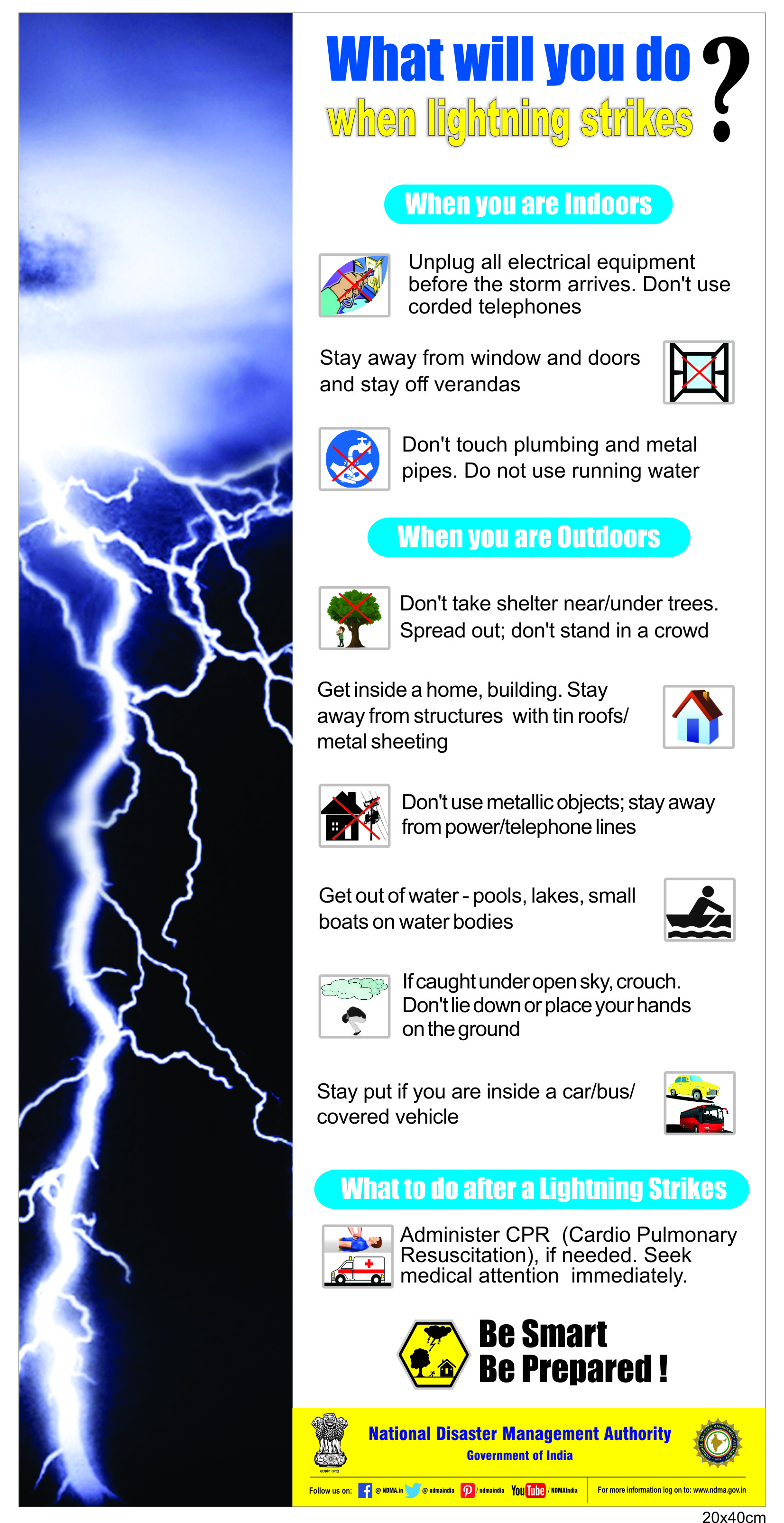 Do's and don'ts of lightning