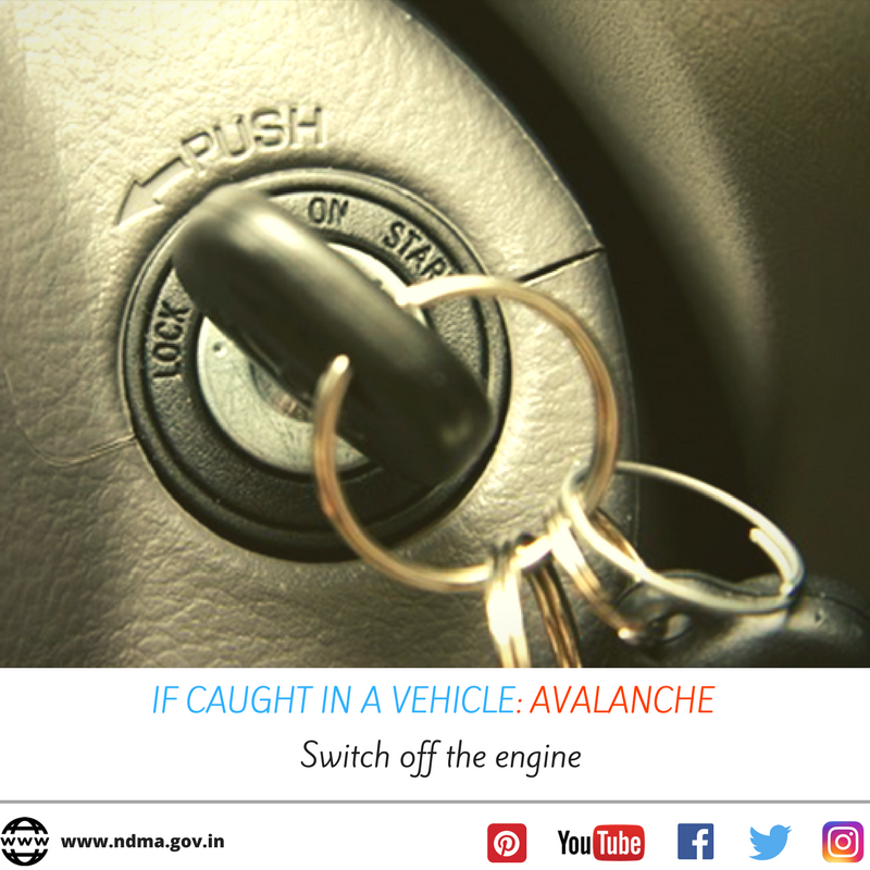 If caught in an avalanche - switch off the engine.