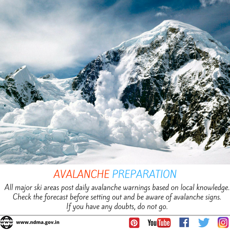 Avalanche preparation - All major ski areas post daily avalanche warnings based on local knowledge. If you have any doubts do not go.