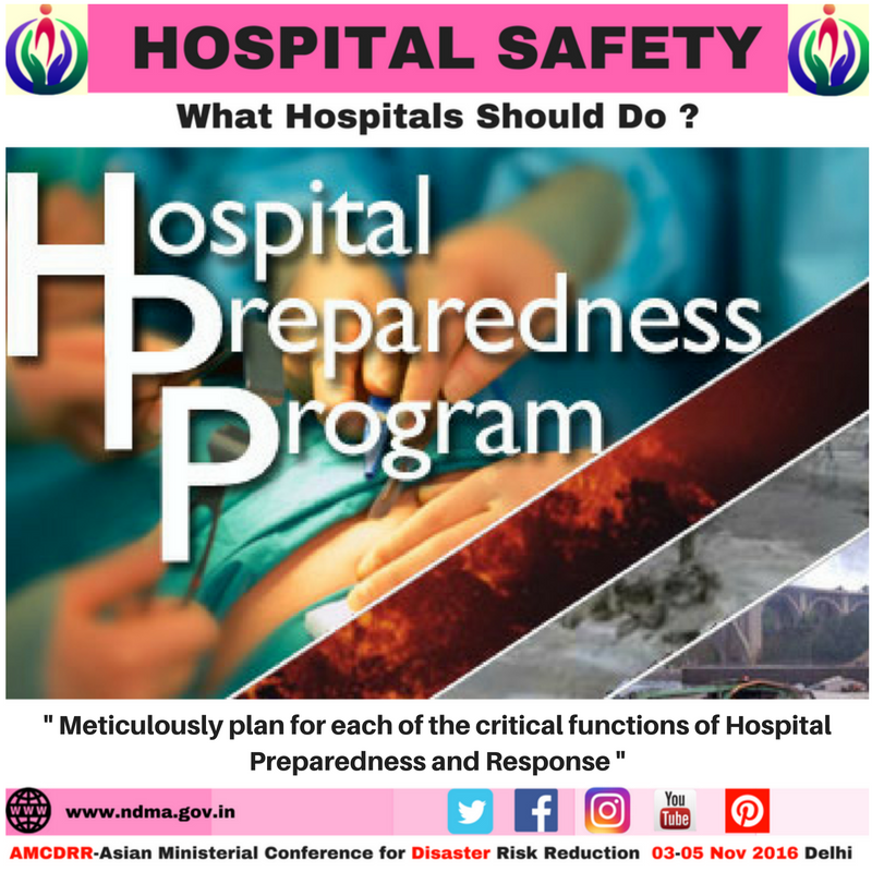 Meticulously plan for each of the critical functions of hospital preparedness and response