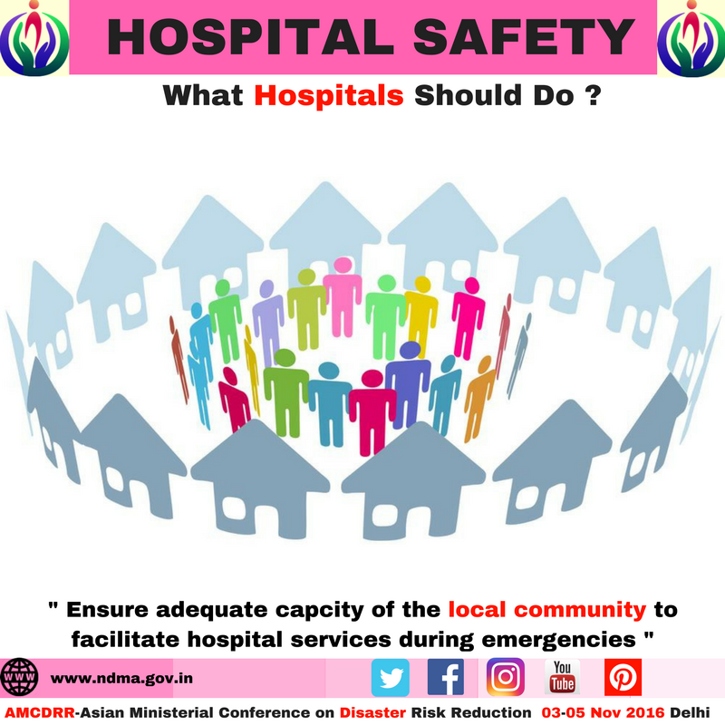Ensure adequate capacity of the local community to facilitate hospital services during emergencies