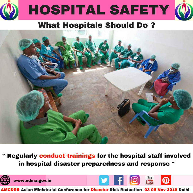 Regularly conduct training for hospital staff