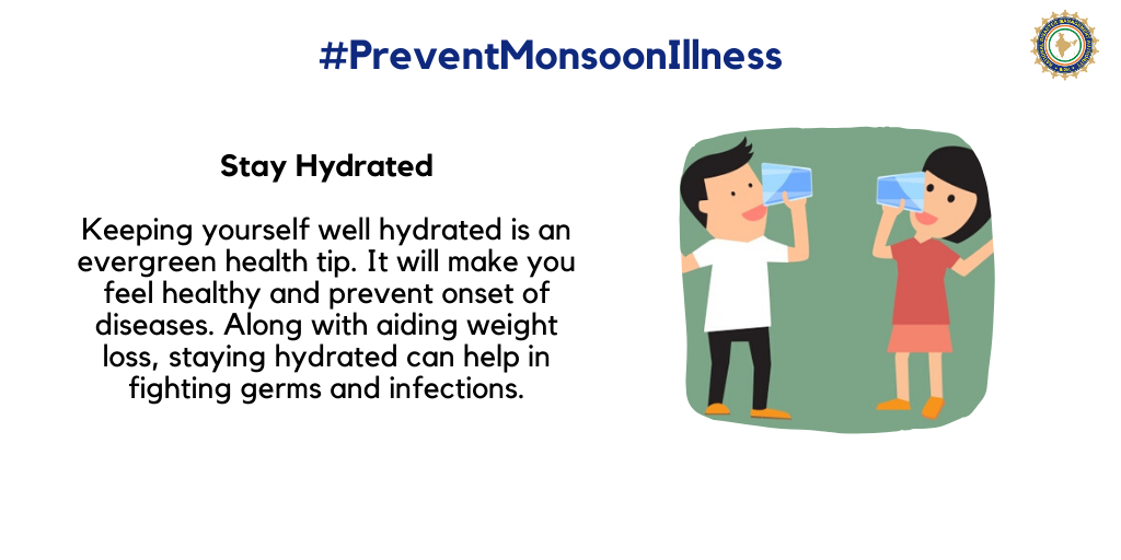 Staying hydrated can help in fighting germs and infections