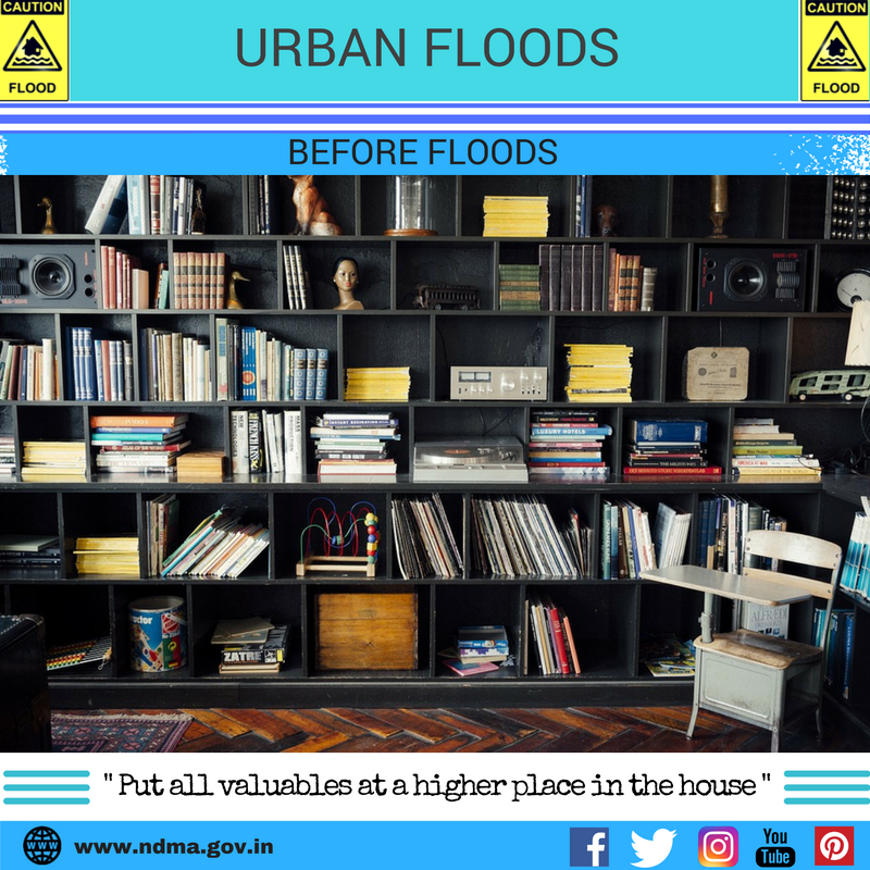 Before urban flood – put all valuables at a higher place in the house